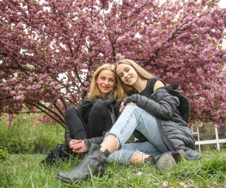Lucie Zedníčková s dcerou Amálkou na skok v Budapešti